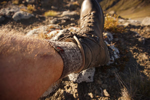 Merino Socks Being Worn In The Mountains