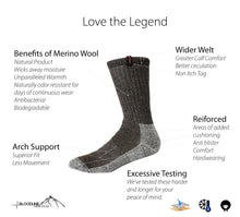 Load image into Gallery viewer, Legend Merino Sock