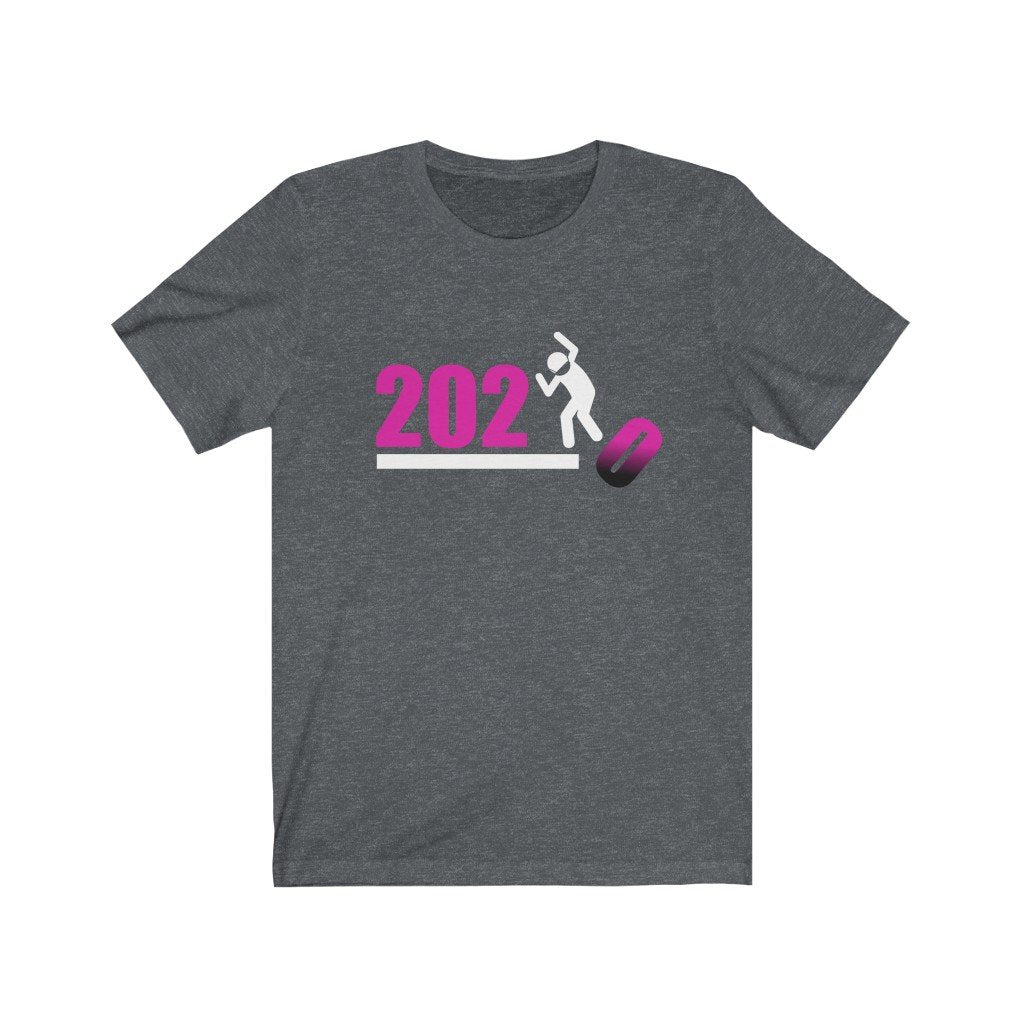 Over It! 2020 🤣 Humorous BEST MEME 2020 • Stomp • Pink Fade • Unisex Jersey Short Sleeve Tee - Maui Woke