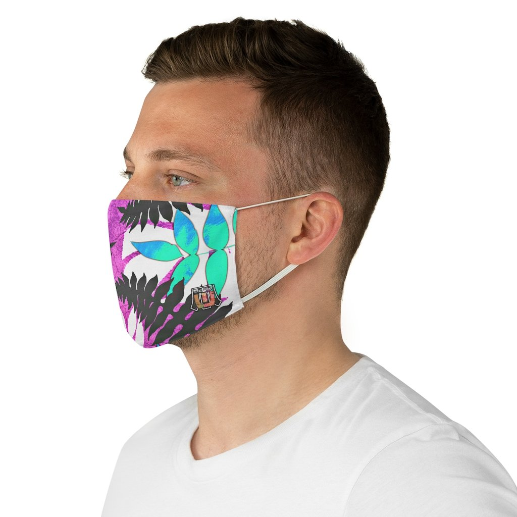 side male view Fern 2-Fabric Face Mask