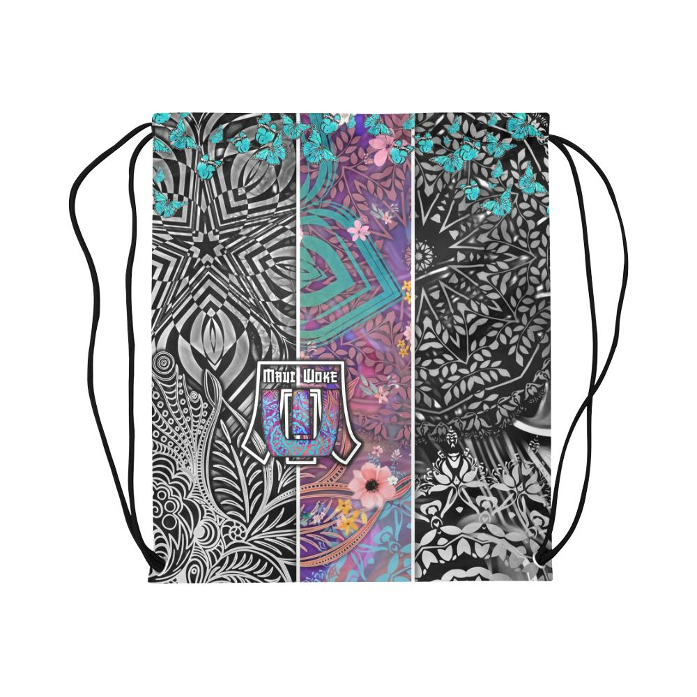 Sacred Geometry Multi Color Drawstring Bag - Maui Woke