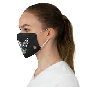 female side Wings To Fly-Black Fabric Face Mask