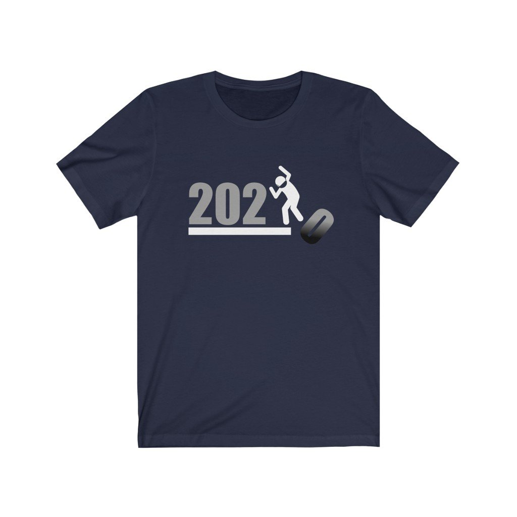 Over It! 2020 🤣 Humorous BEST MEME 2020 • Stomp • White Gray • Unisex Jersey Short Sleeve Tee - Maui Woke