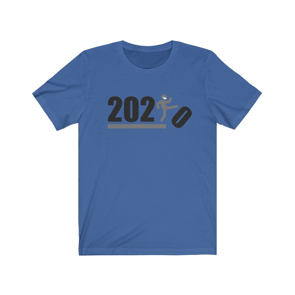 Over It! 2020 🤣 Humorous BEST MEME 2020 • Kick • Black and Gray • Unisex Jersey Short Sleeve Tee - Maui Woke