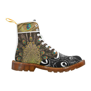 Peacock Multi-colored Lace Up Canvas Boots - Maui Woke