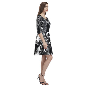 Peacock Women's Half-Sleeve Skater Dress-SHD|Maui Woke - Maui Woke