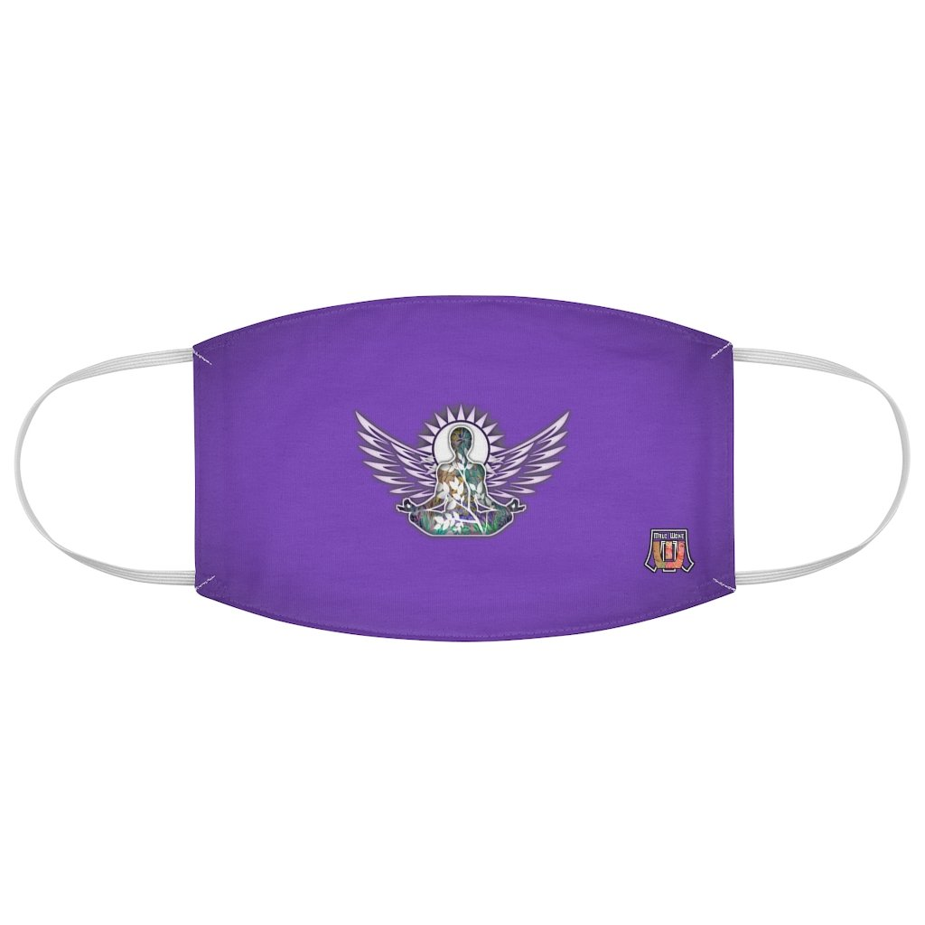 Wings To Fly-Purple Fabric Face Mask