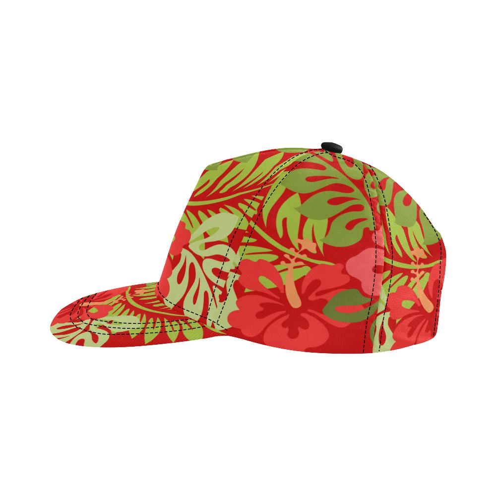 Hawaiian Red All Over Print Snapback Cap D - Maui Woke