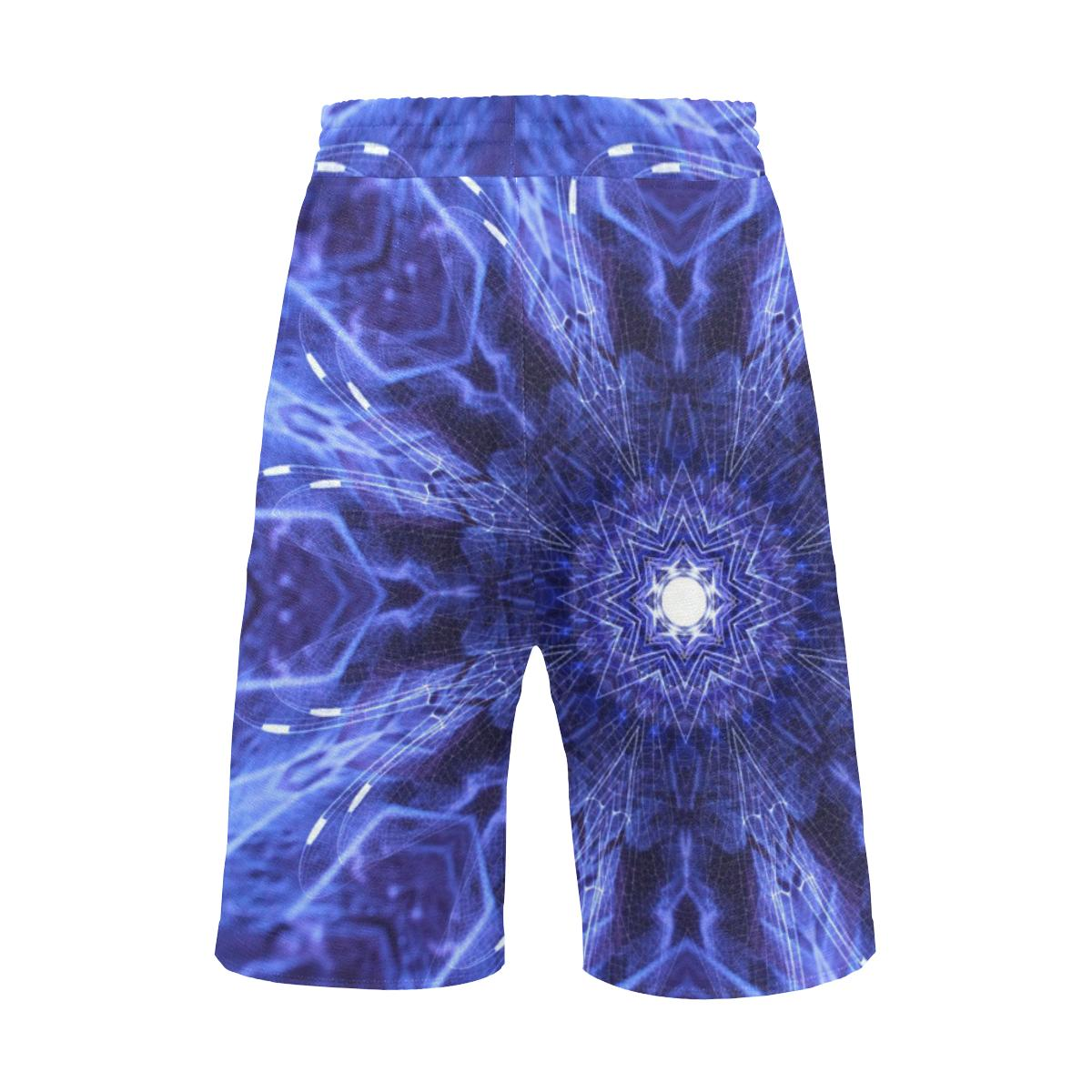 Sacred Geometry Blue Casual Boardshorts - Maui Woke