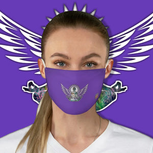 Casual Wings To Fly-Purple Fabric Face Mask - Maui Woke