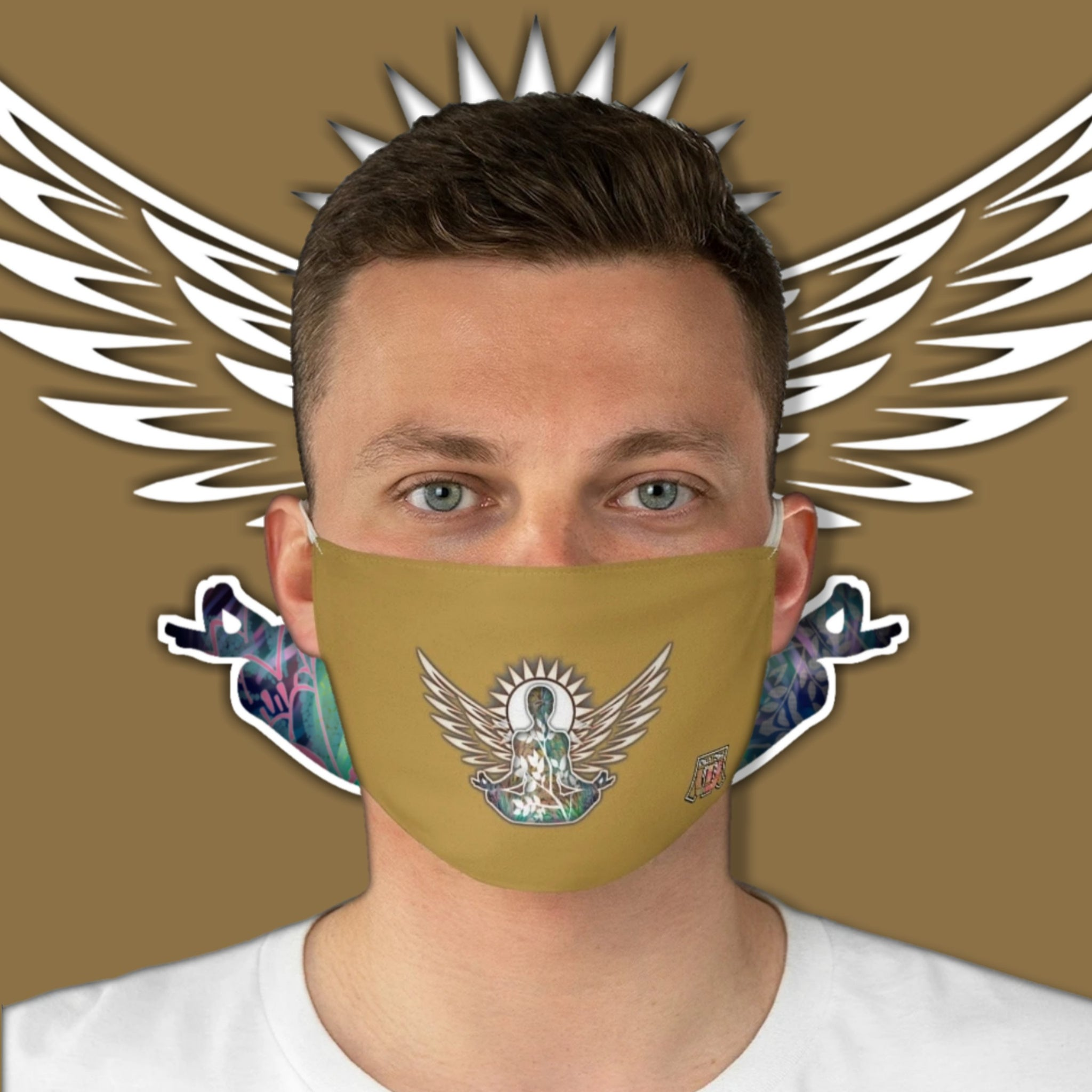 Casual Wings To Fly • Brown Fabric Face Mask - Maui Woke