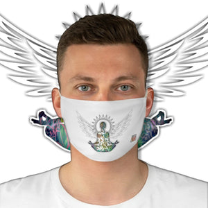Casual Wings To Fly • White Fabric Face Mask - Maui Woke