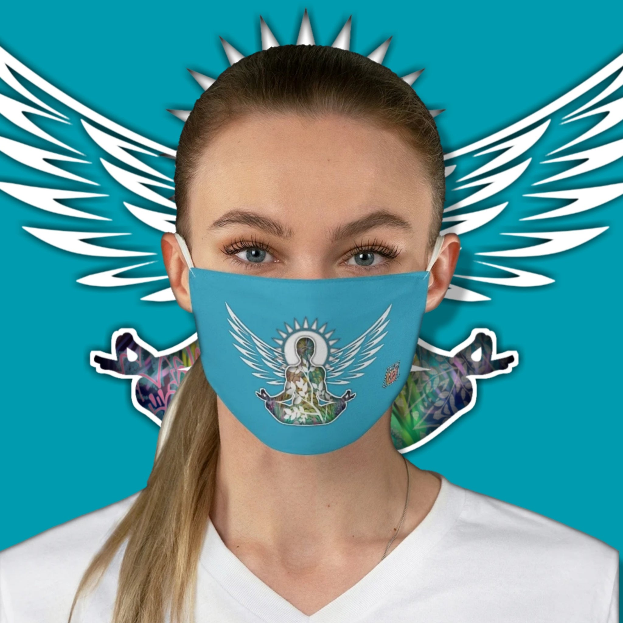 Casual Wings To Fly • Blue Fabric Face Mask - Maui Woke