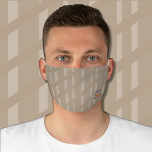 Casual Island Stripe • Basket Weave Tan Fabric Face Mask - Maui Woke