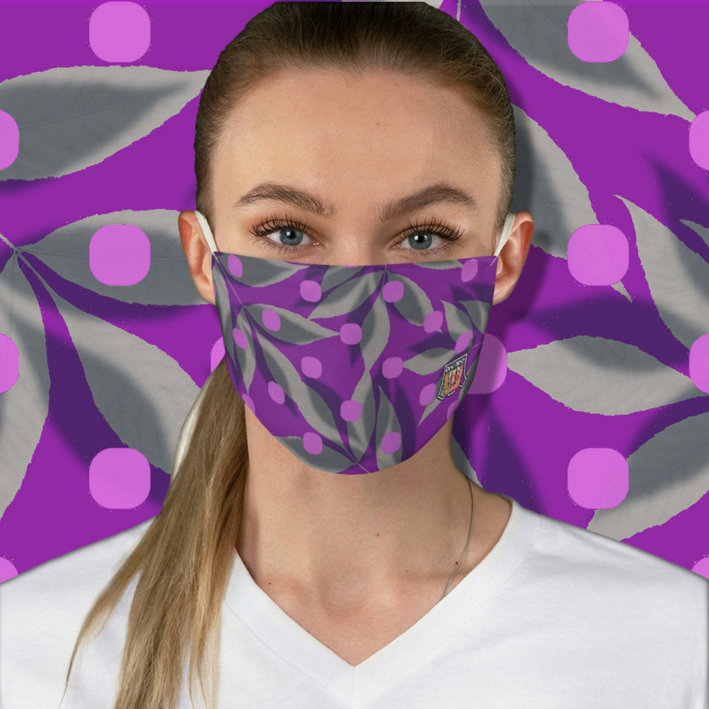 Colorful Colors Of India • Fields of Lavender Fabric Face Mask - Maui Woke