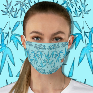 Casual Bamboo Hike • Sacred Pool BlueFabric Face Mask - Maui Woke