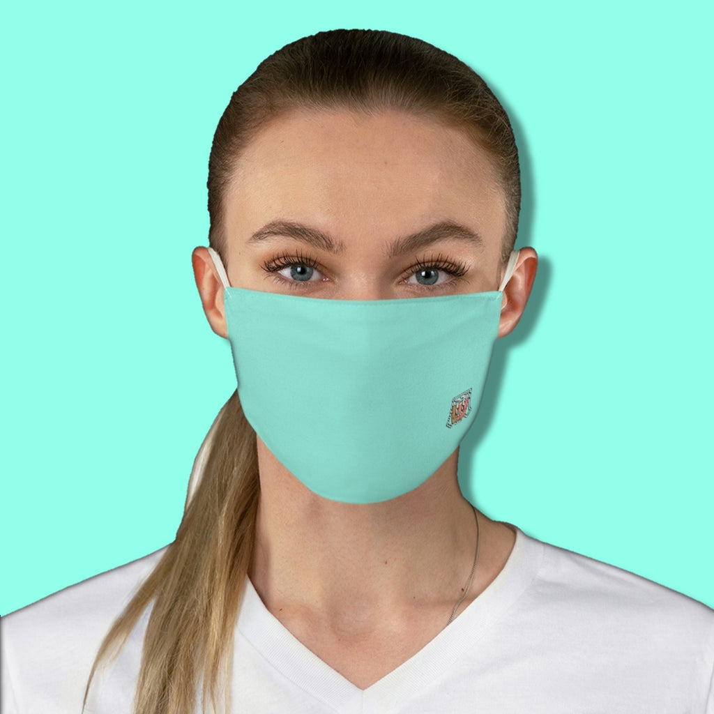 Basic Blue Tropical Water Blue Fabric Face Mask - Maui Woke