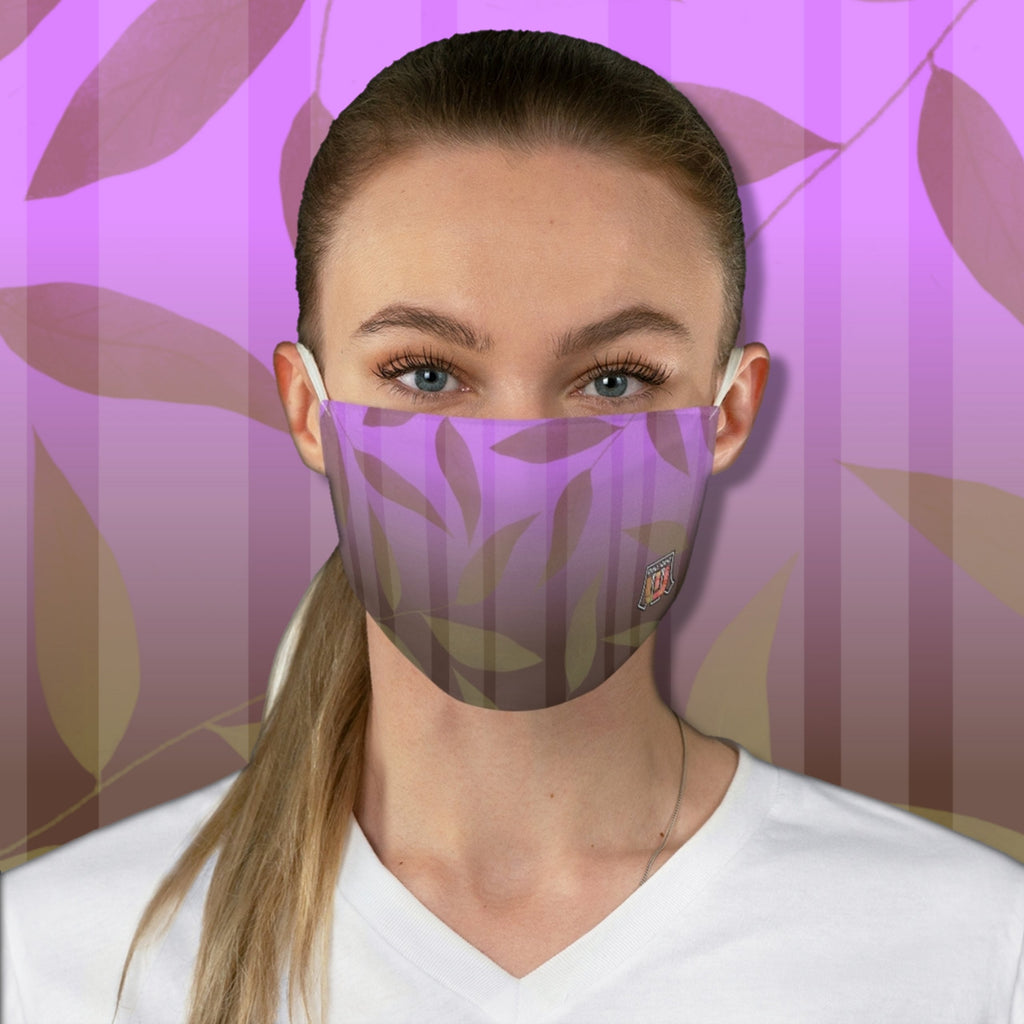 Colorful Leaves Pattern • Gradient Purple, Brown Fabric Face Mask - Maui Woke