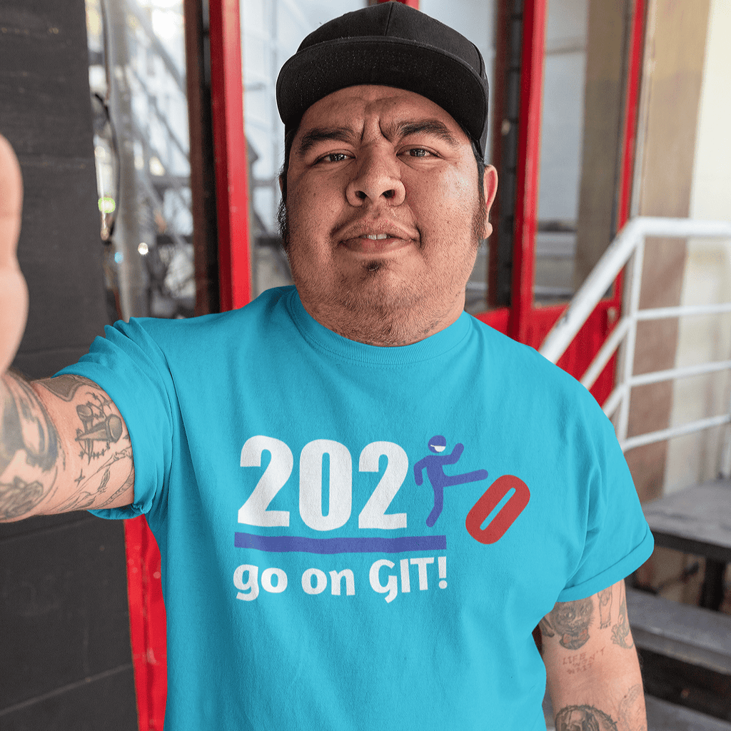 Go on GIT! 2020 🤣 Humorous BEST MEME 2020 • Kick • Red, White & Blue • Unisex Jersey Short Sleeve Tee - Maui Woke