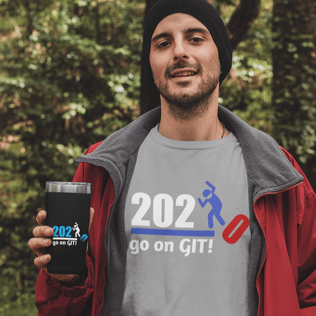 Go on GIT! 2020 🤣 Humorous BEST MEME 2020 • Stomp • Red, White & Blue • Unisex Jersey Short Sleeve Tee - Maui Woke