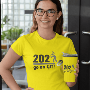 Go On GIT! 2020 Humorous BEST MEME 2020 • Stomp • Black and Gray • Women's Boyfriend Tee - Maui Woke