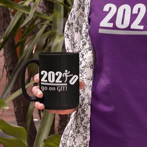 Go On GIT! 2020 • 11oz Ceramic Mug • Kick • Black and White - Maui Woke