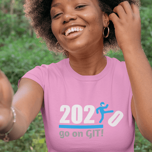 Go On GIT! 2020 Humorous BEST MEME 2020 • Kick • Blue • Women's Boyfriend Tee - Maui Woke