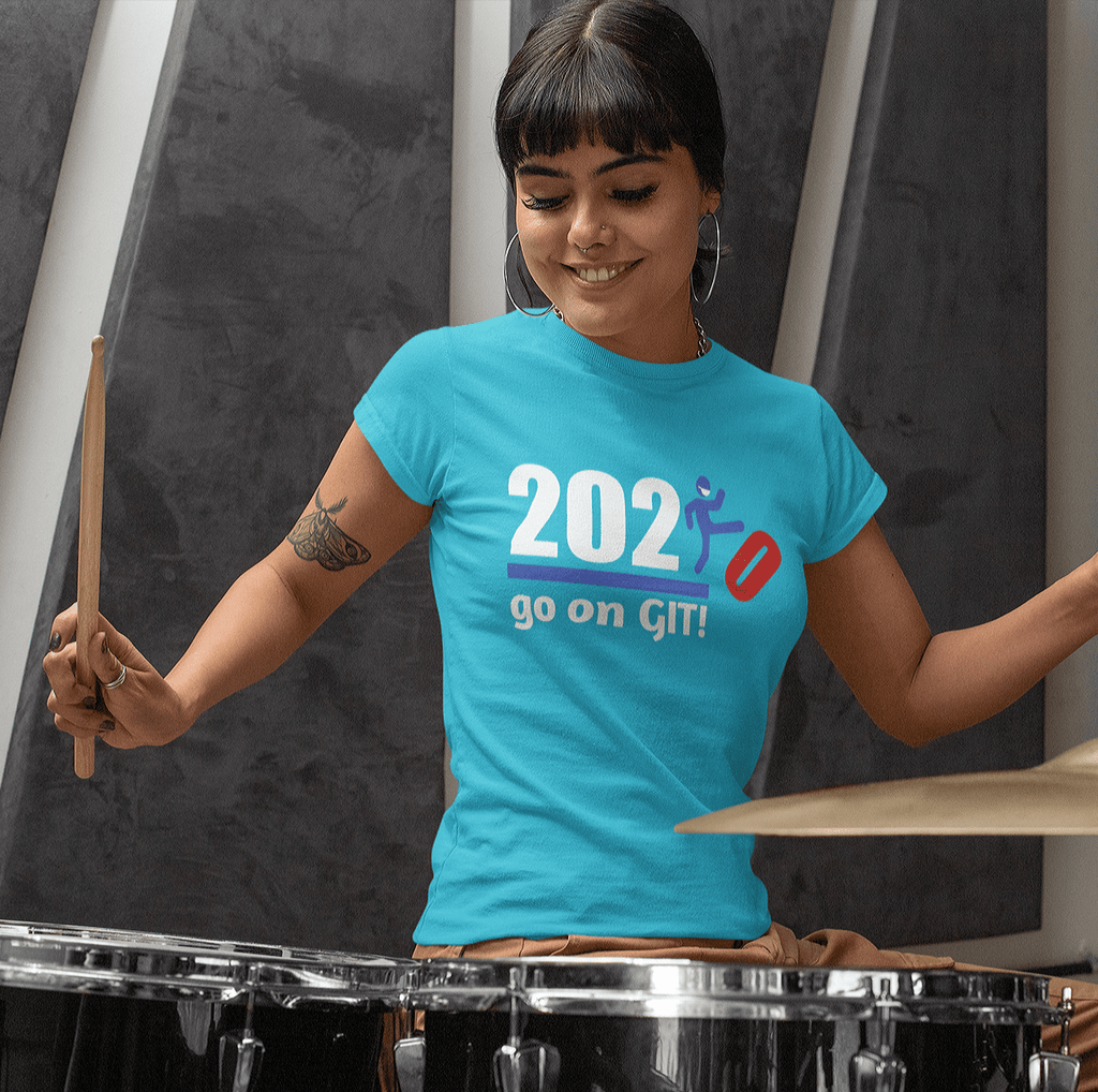 Go On GIT! 2020 Humorous BEST MEME 2020 • Kick • Red White and Blue  • Women's Boyfriend Tee - Maui Woke