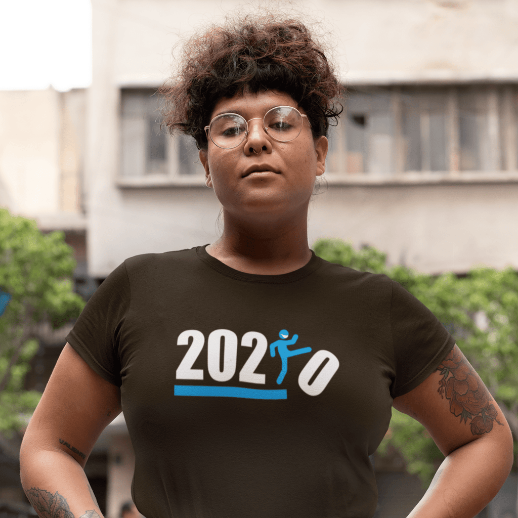 Over It! 2020 Humorous BEST MEME 2020 • Kick •  Blue • Women's Boyfriend Tee - Maui Woke