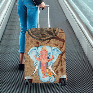 Brown Ganesha Suitcase Luggage Cover - Maui Woke