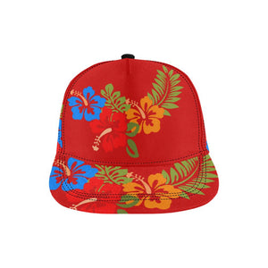 Hawaiian Red All Over Print Snapback Cap, Hats  - Maui Woke