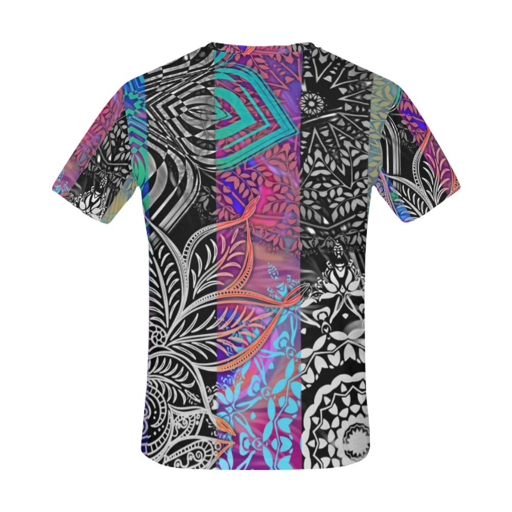 Sacred Geometry Multi Color T-shirt - Maui Woke