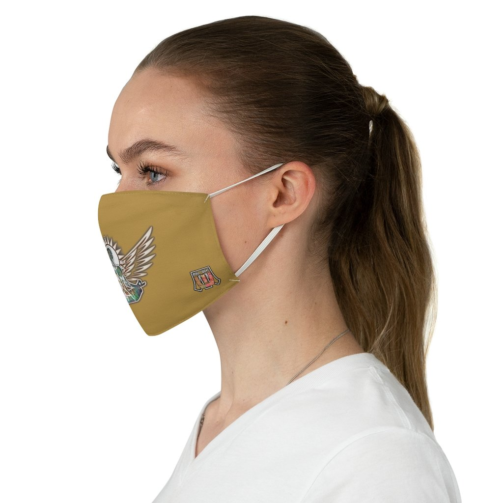 female side Wings To Fly-Brown Fabric Face Mask