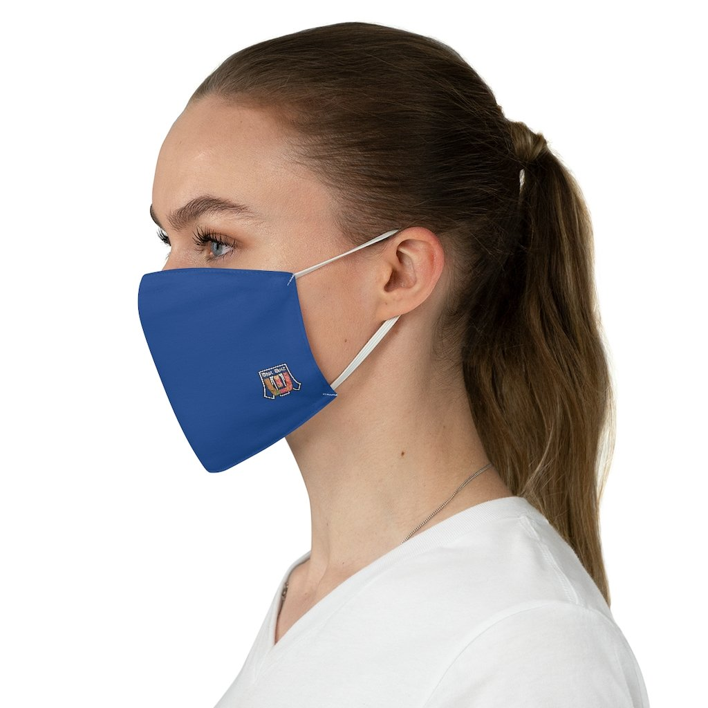 Basic Blue Navy Fabric Face Mask - Maui Woke