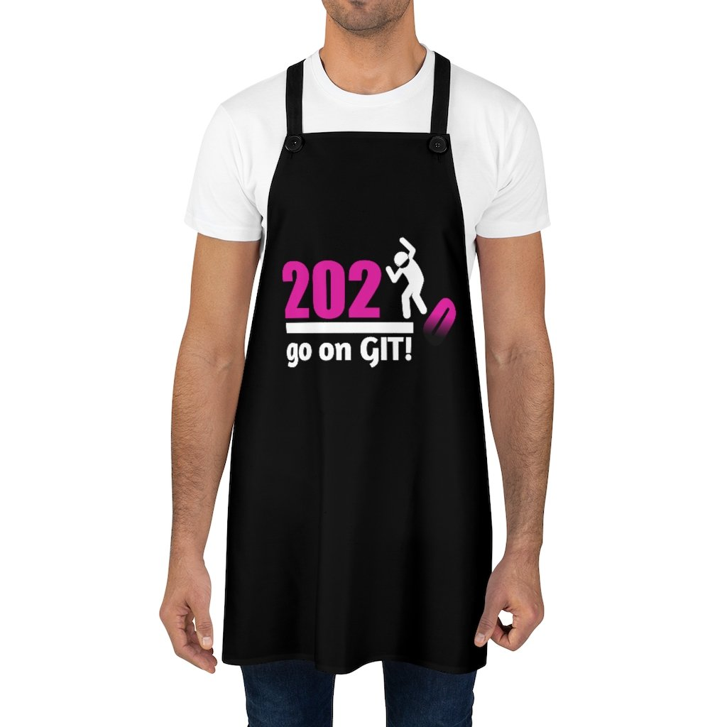 Go On GIT! 2020 • Apron • Stomp • Pink • Black - Maui Woke