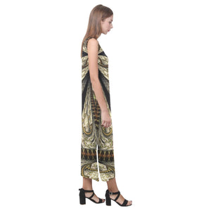 Boho Sleeveless Open Fork Long Dress - Maui Woke
