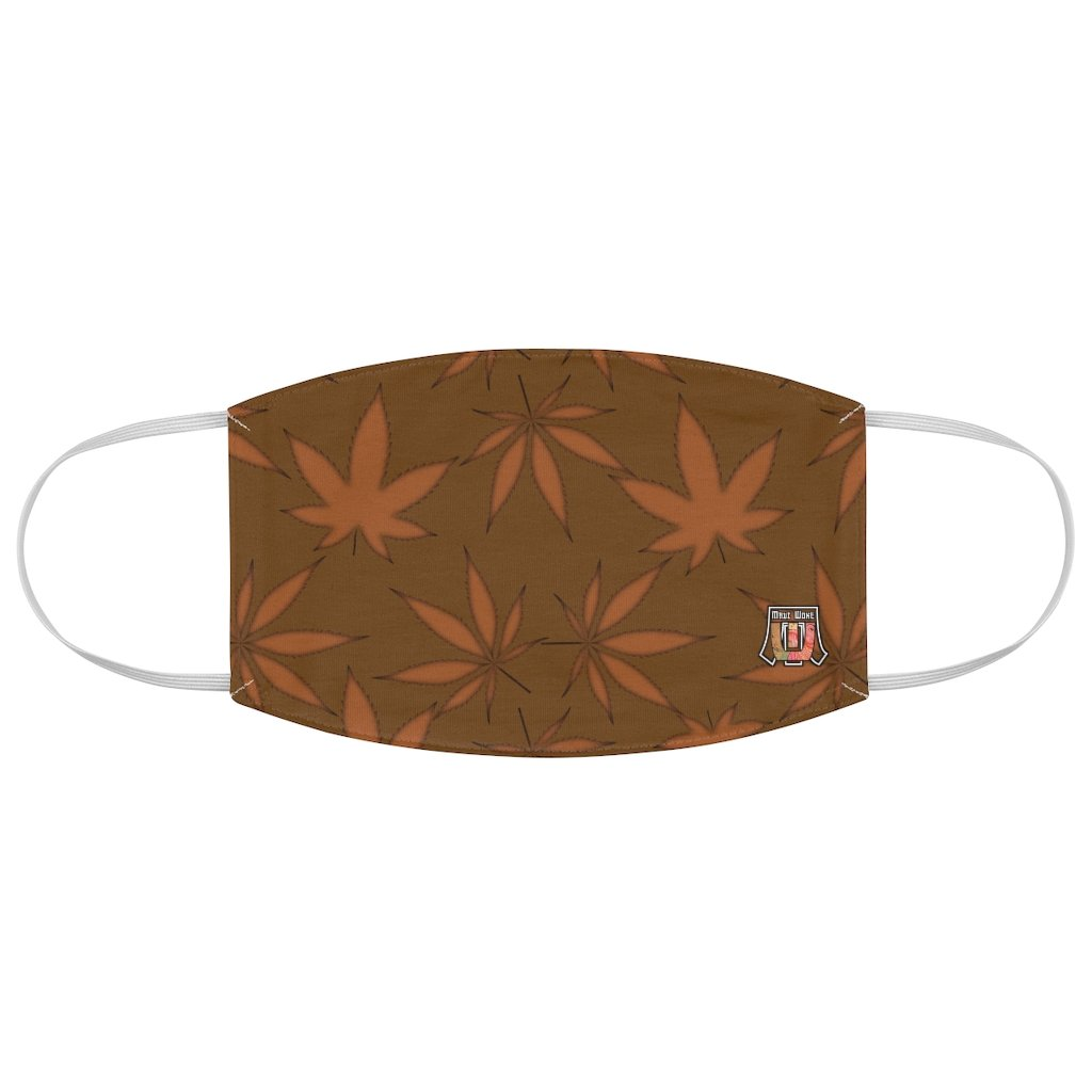 Marijuana Leaf-Brown Fabric Face Mask