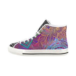 Sacred Geometry Multi-color Vancouver High Top Shoes - Maui Woke