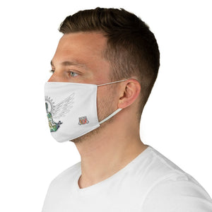 male side Wings To Fly-White Fabric Face Mask