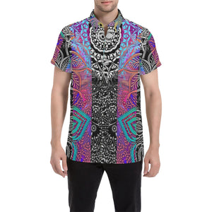 Sacred Geometry Multi Color Men's All Over Print Shirt (Model T53), All-over Shirts - Maui Woke