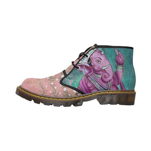 Purple Ganesha Ankle Canvas Chukka Boots - Maui Woke