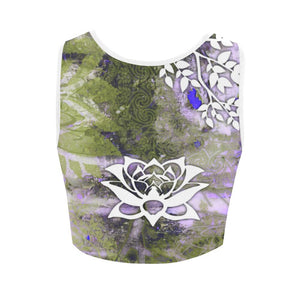 Purple Lotus Women's Reversible Sports Bra-SHD, Lotus - Maui Woke
