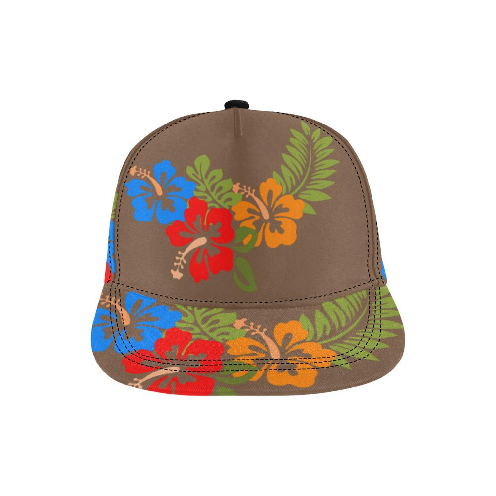 Hawaiian Brown All Over Print Snapback Cap, Hats  - Maui Woke