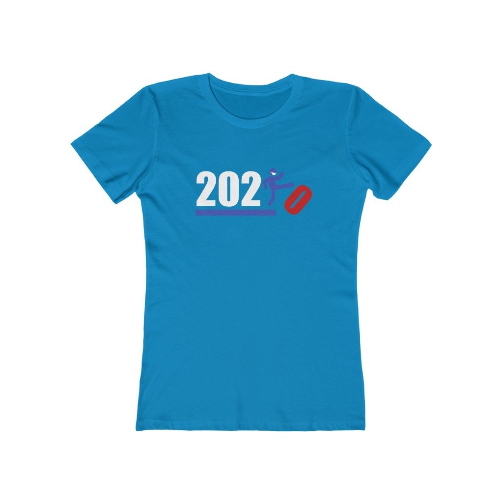 Over It! 2020 Humorous BEST MEME 2020 • Kick • Red White and Blue • Women's Boyfriend Tee - Maui Woke