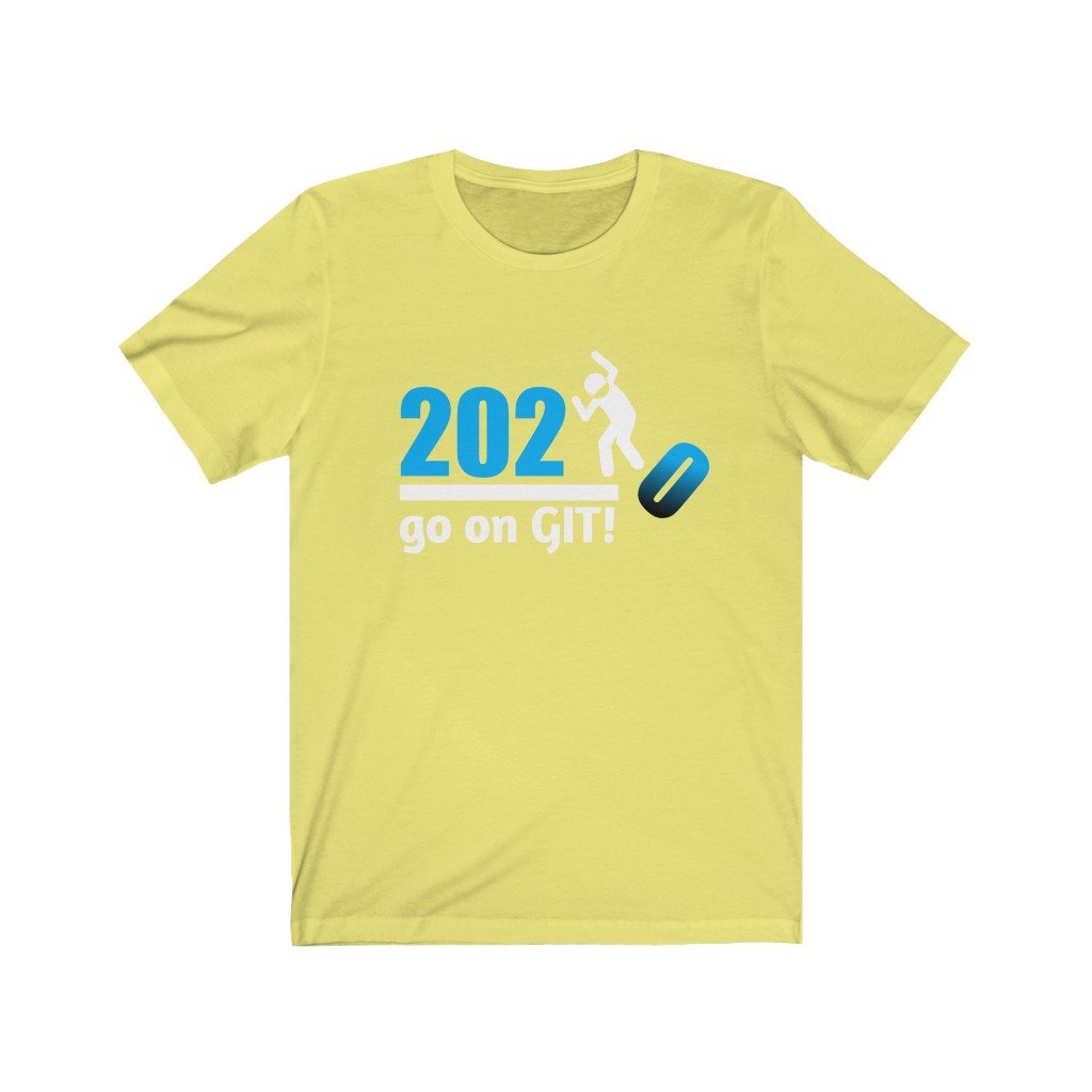 Go on GIT! 2020 🤣 Humorous BEST MEME 2020 • Stomp • Blue Fade • Unisex Jersey Short Sleeve Tee - Maui Woke