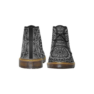 Sacred Geometry Dark Grey Canvas Chukka Boots - Maui Woke