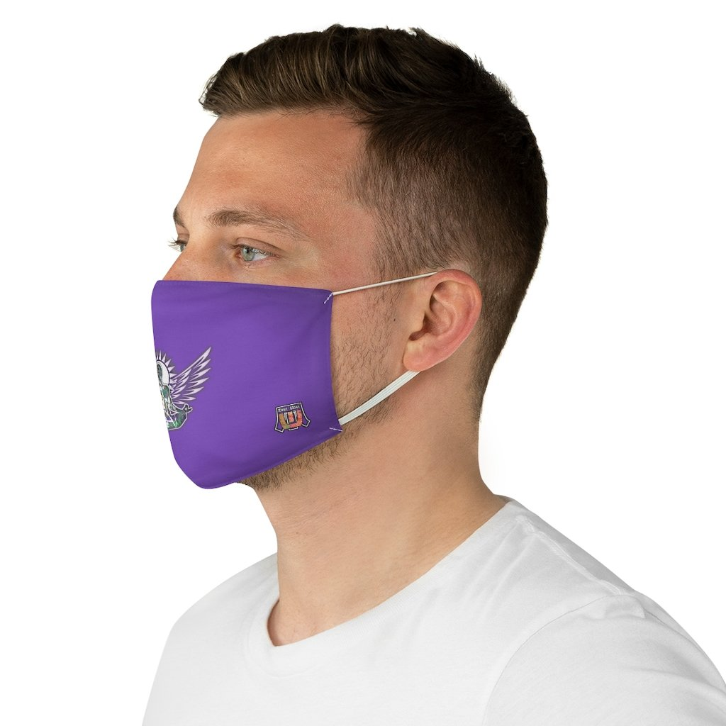 male side Wings To Fly-Purple Fabric Face Mask