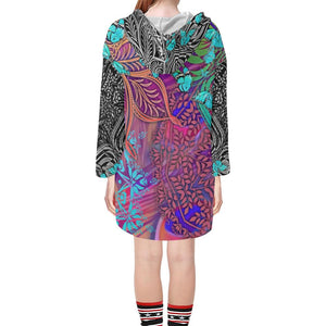 Sacred Geometry Multi Color V-neck Tunic Hoodie - Maui Woke