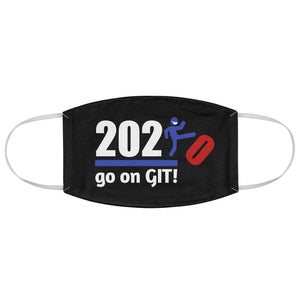 Go On GIT! 2020 • Kick • Red, White & Blue • Black Fabric Face Mask - Maui Woke