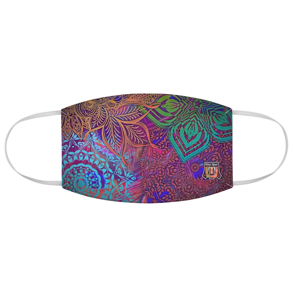 Sacred Geometry Inspired-Colorful Fabric Face Mask